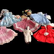 Ruth Gibbs China Head Doll with Wardrobe