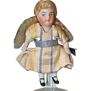Tiny German All Bisque Dollhouse Doll