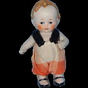 Cute Little All Bisque Boy Doll