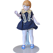 All Bisque Flapper Doll with Bobbed Hair