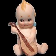 Little Rose O'Neill Kewpie Playing the Mandolin