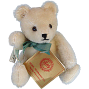 Small Hermann Cream Colored Mohair Teddy Bear