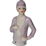 German Flapper Half Doll Wearing a Clouche