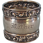 Sterling Silver Napkin Ring with Mother Engraved