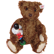Steiff Mohair Christmas Teddy Bear with Nutcracker