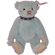 Steiff Miniature Blue Mohair Stuart Teddy Bear