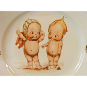 Child's Plate with Kewpies!