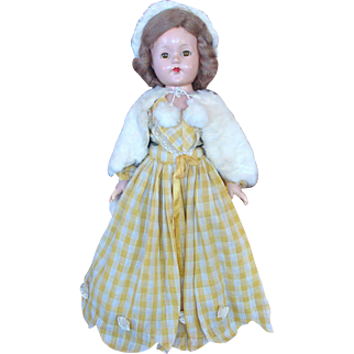 Effanbee Composition Little Lady/Anne Shirley Doll