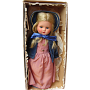 German Painted Bisque Doll Wearing Biedermeier Costume