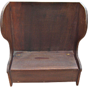 Loring H. Cushiing Colonial Style Doll Size Bench