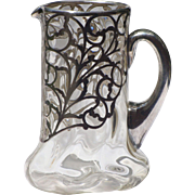 Silver Overlay Water Pitcher