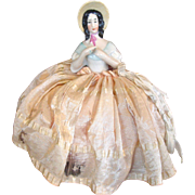German Half Doll with Bonnet
