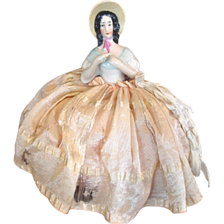 German Half Doll with Bonnet