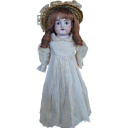 Cute Little Kestner 154 Bisque Shoulder Head Child Doll