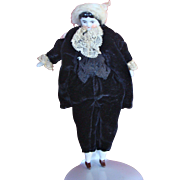 Miniature China Head Boy Doll with a Cotton Wig
