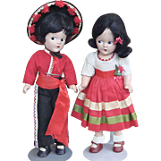 Pair of Madame Alexander Spanish Dolls
