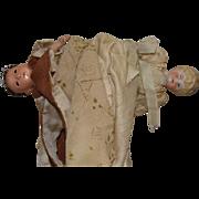 Topsy Turvy Doll with Japanese Ichimatsu