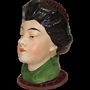 Bisque Asian Head Pincushion