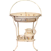 Child's French Faience Pottery Wash Stand