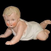 Gebruder Heubach Bisque Crawling Baby Piano Baby