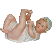 Gebruder Heubach Bisque Baby Piano Baby Playing with HIs Toes