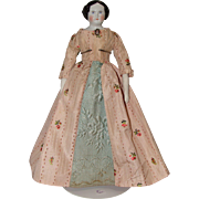 German Flat Top China Head Doll