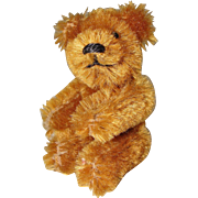 Cute Miniature Caramel Colored Mohair Bear