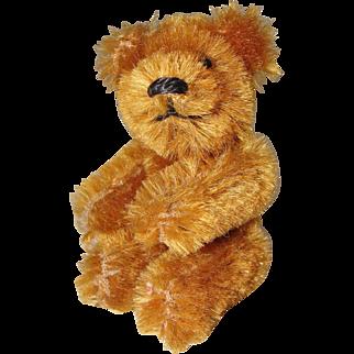 Cute Miniature Caramel Colored Mohair Bear