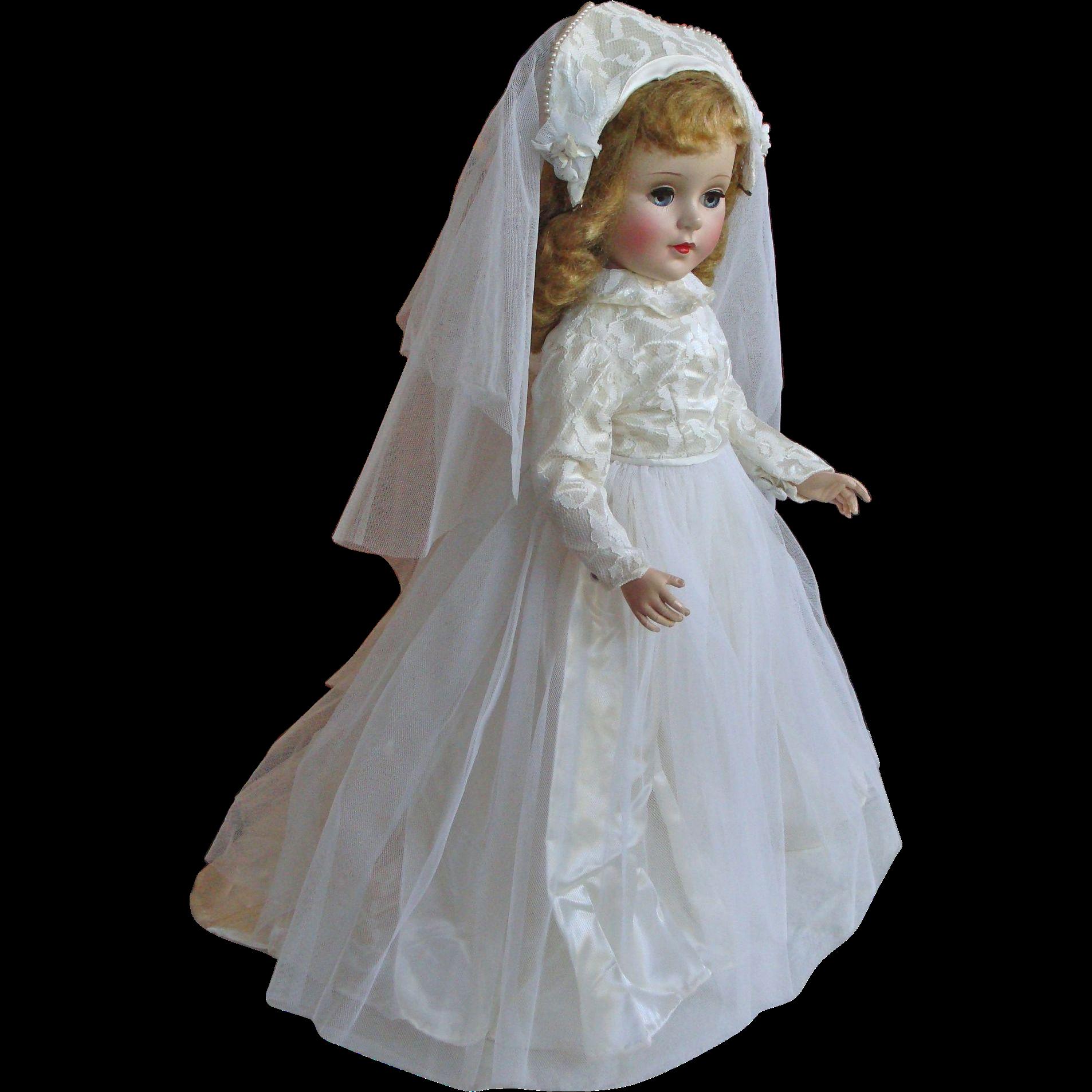 "American Character 21"" Sweet Sue Hard Plastic  Bride Doll"