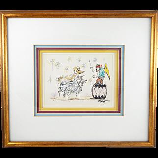 ORIGINAL – DeGrazia Watercolor Painting – C. 1950-60s