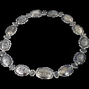 Navajo – Sterling Silver Concho Belt C. 1930-40s