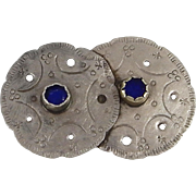 EARLY German Silver Plain Indian Pin. C. 1880-90s