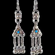 VINTAGE Tibetan GYPSY Dangle Earrings