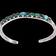 Zuni – Virgil or Vincent Dishta, Sterling & Turquoise Inlay Bracelet