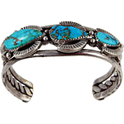 Zuni – Sterling and Pilot Mountain turquoise Bracelet