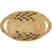 Tohono O' Odhan/Papago - Indian Oval Tray Basket, Ca. 1930-40's.
