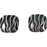 Mexican - Emilia Castillo, Sterling Silver Cast Earrings