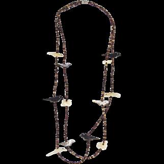 Zuni or Santo Domingo – Two Strand, Fetish & Heishi Shell Necklace