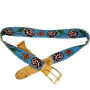 Antique Ojibwa - Beaded Belt C. 1900-20s