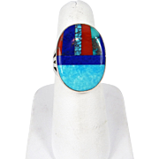 Zuni – Roger Tsabetsaye Multi Stone Inlay Ring