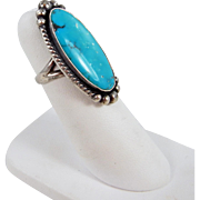 Maisel's Indian Trading Post - Sterling Silver and Turquoise Ring. - C. 1940s