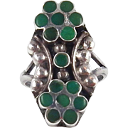 Zuni - Frank or Virgil Dishta, Sterling Silver with Turquoise Channel Inlay Ring