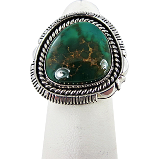 Navajo – Artie Yellowhorse & Henry Chackee, Sterling with Turquoise Ring