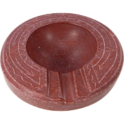 OLD Native American Hand Carved & Etched Pipestone Ashtray. C. 1930-50s