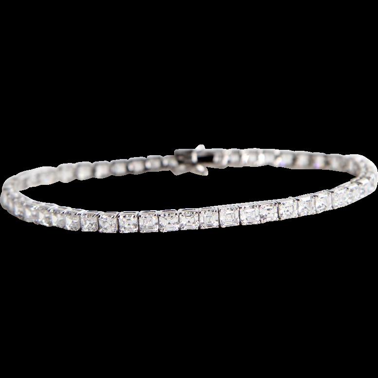 sterling cubic zirconia tennis bracelet from sill tribal. Black Bedroom Furniture Sets. Home Design Ideas