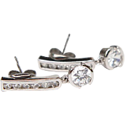 Sterling Silver with Cubic Zirconia Earrings