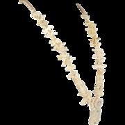 Vintage Bone & Turquoise Fetish Necklace