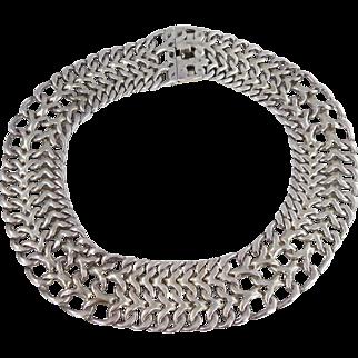 Mexican/Taxco – Rodolfo Espinoza, Sterling WIDE Collar Necklace
