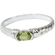 Sterling Silver with Synthetic Peridot Ring