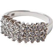 Sterling Silver with 27 Round Cubic Zirconia Stone Ring